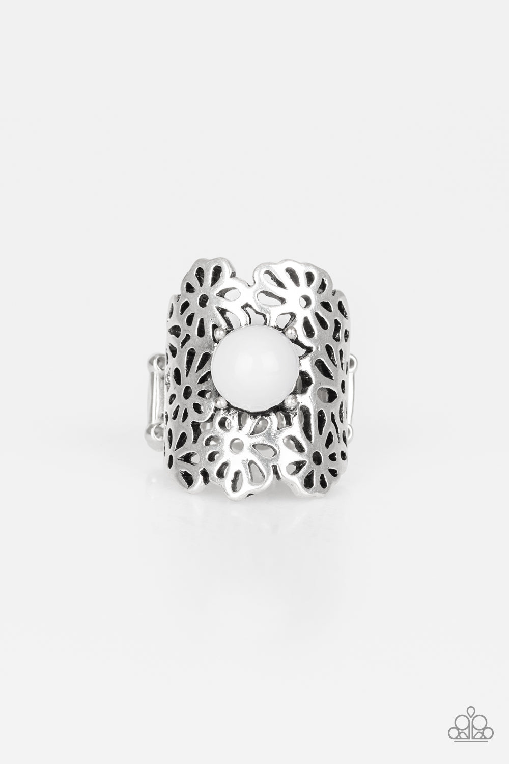 Flower Shower White Ring