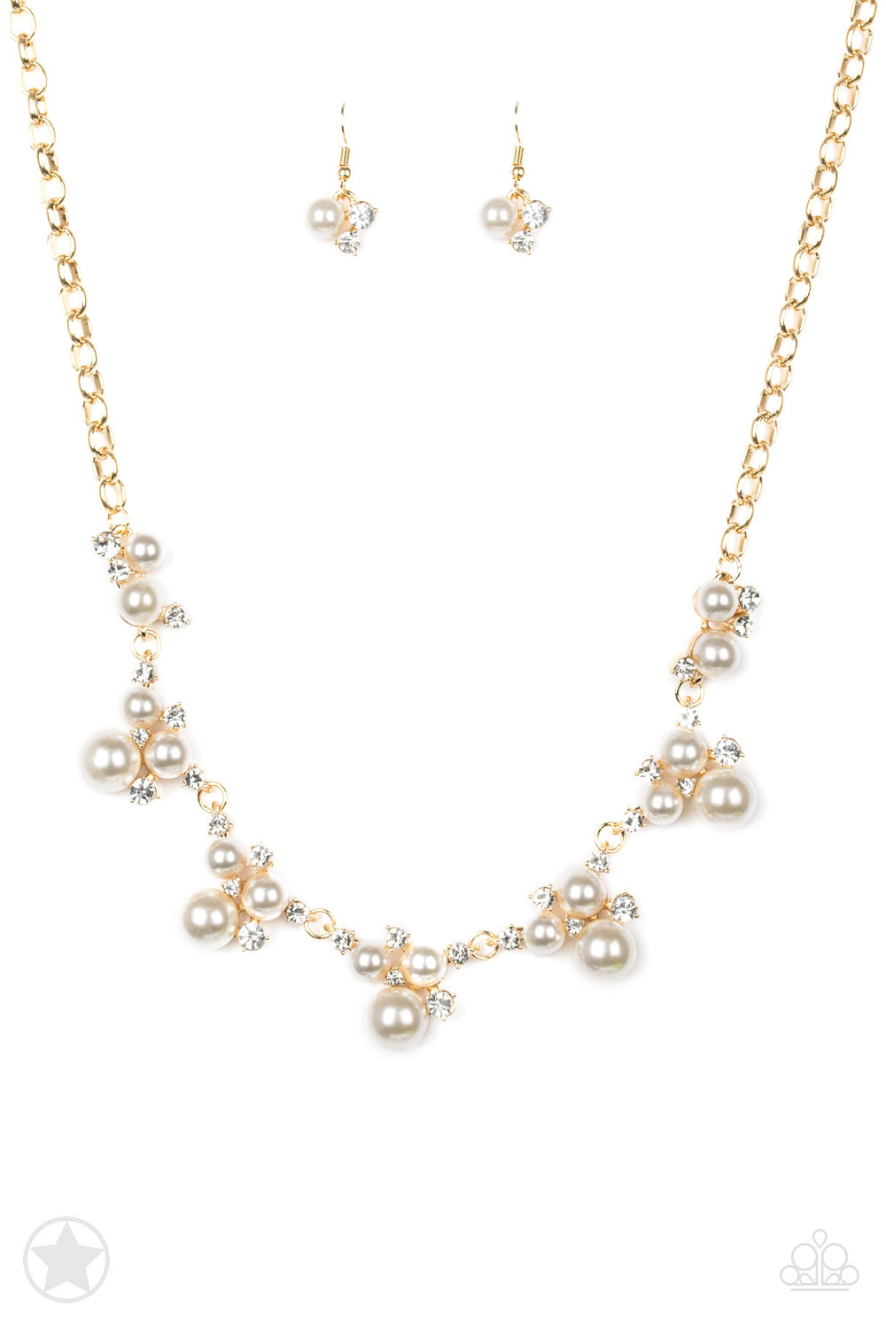 Toast To Perfection Gold/White Necklace