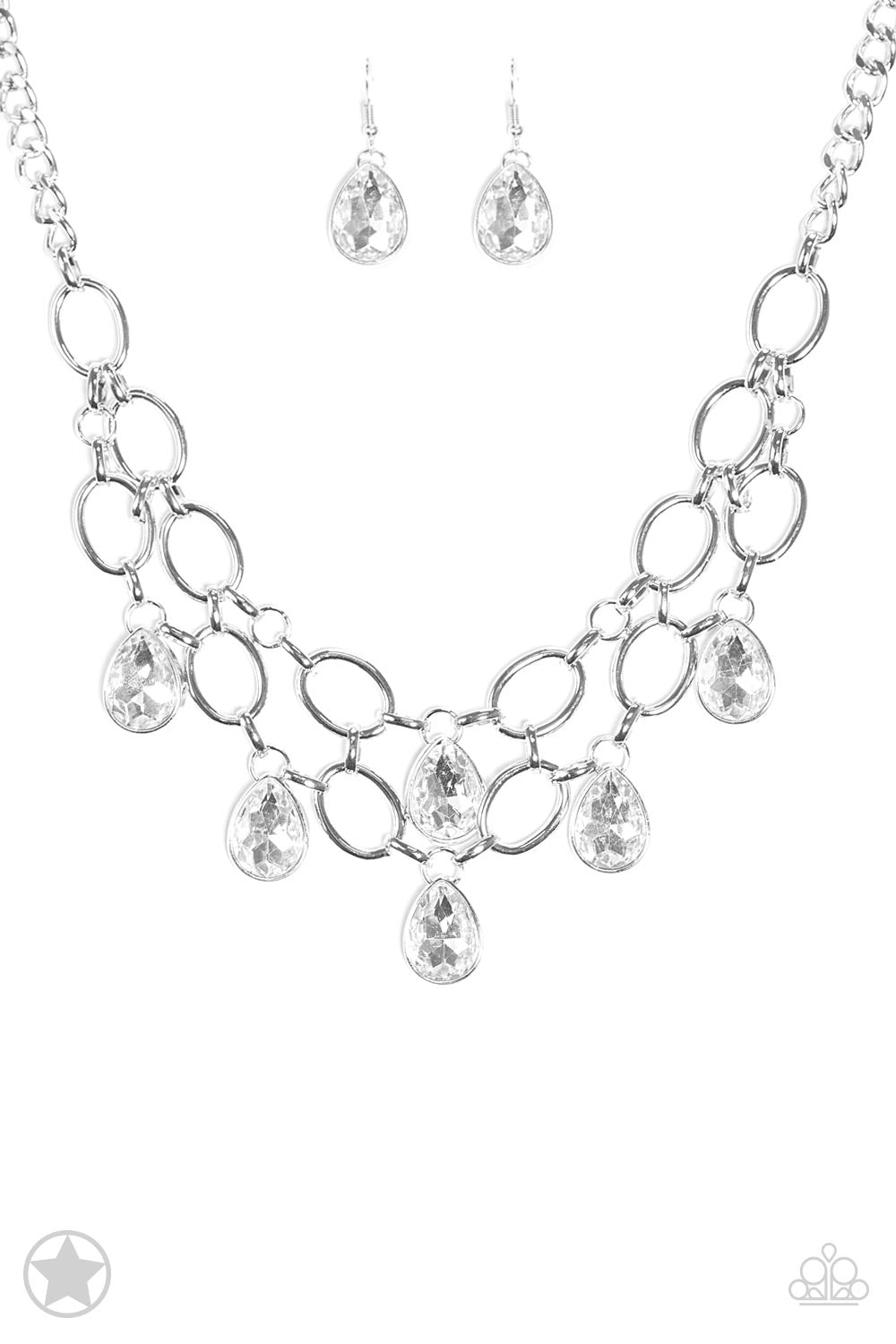 Show-Stopping Shimmer White Necklace