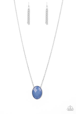 Intensely Illuminated Blue Necklace