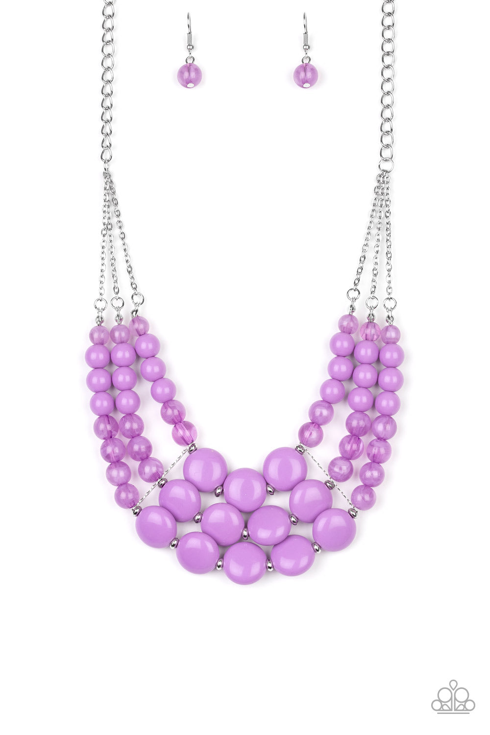 Flirtatiously Fruity Purple Necklace
