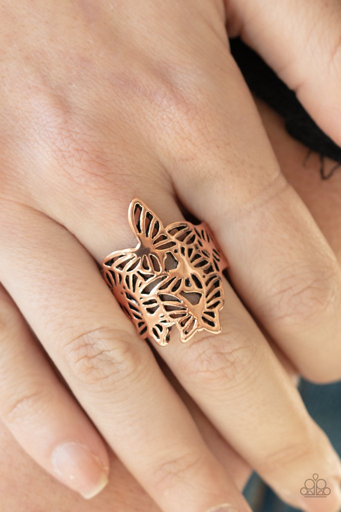Banded Butterflies Copper Ring