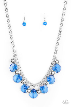 Gossip Glam Blue Necklace