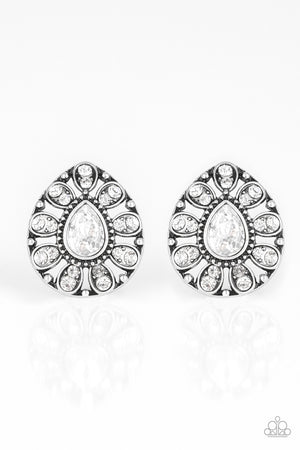 Treasure Retreat White Post Earring