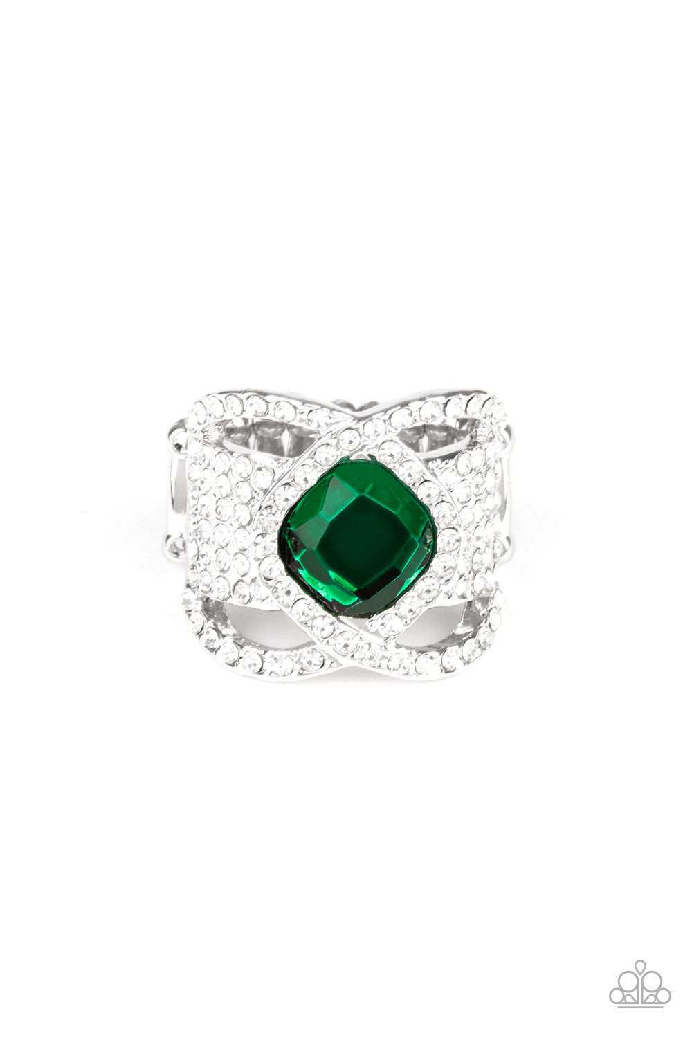 Triple Crown Twinkle Green Ring