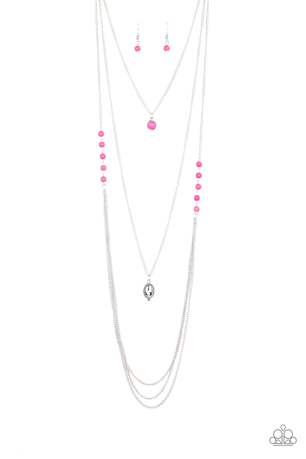 The Pony Express Pink Necklace