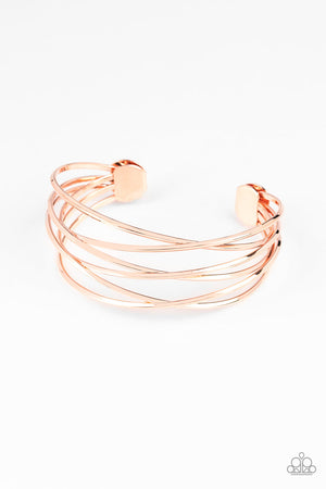 Down To The Wire Copper Bracelet