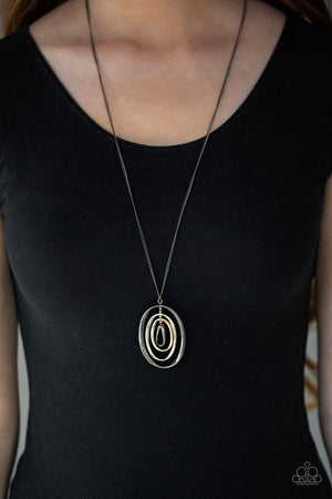 Classic Convergence Black Necklace
