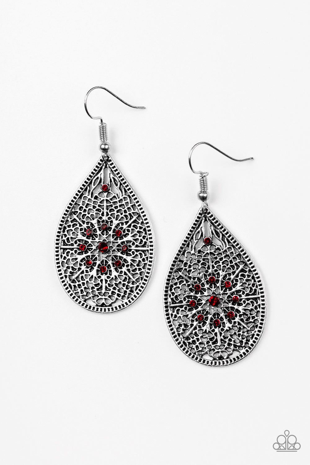 Dinner Party Posh Red Earring