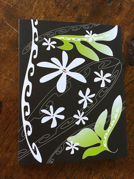 TIARE POLYNESIA Mini Greeting Card