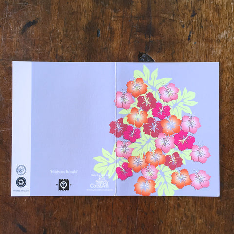 HIBISCUS FUBUKI Mini Greeting Card