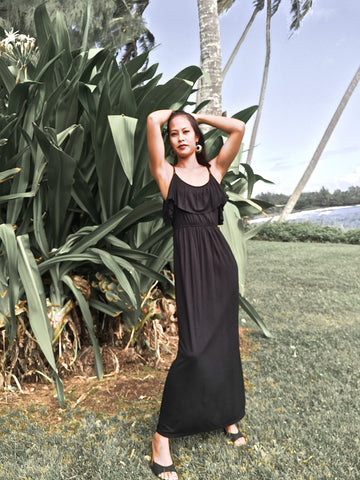 DOUBLE STRING BEACH EVENING DRESS
