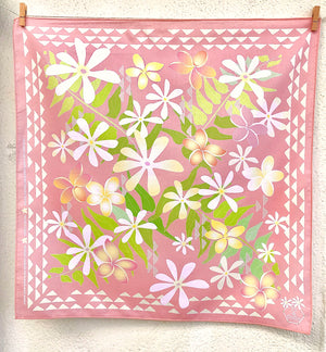 TROPICAL GARDEN Organic Cotton Baby & Kid's Bandana in PINK
