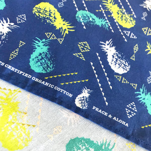 PINEAPPLE & LAUHALA FISH Organic Cotton Bandana in Ocean Blue