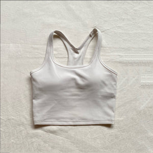 Ribbed Racerback Padded Top - Cotton