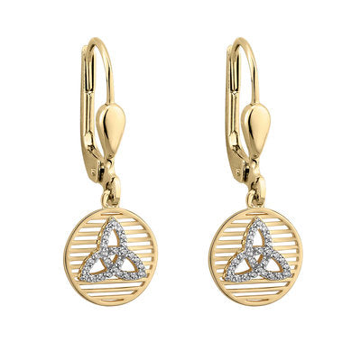 Gold and Silver Trinity Drop Earrings