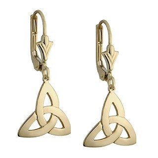 14 Karat Gold Trinity Drop Earrings Emerald Isle Jewelry.