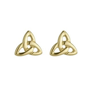 14 Karat Gold Trinity Stud Earrings Emerald Isle Jewelry.