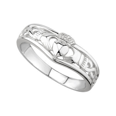 Sterling Silver Claddagh Wishbone Ring