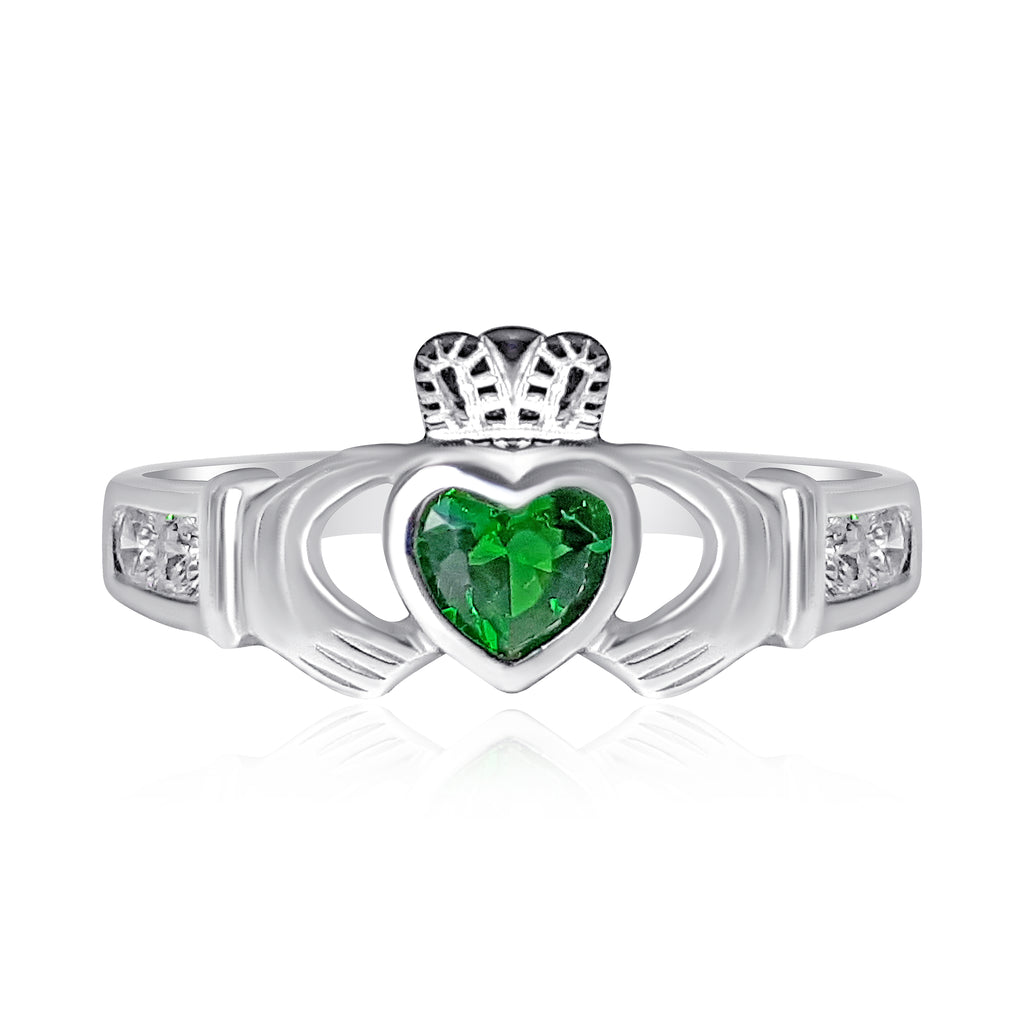 Emerald Claddagh Ring Emerald Isle Jewelry.