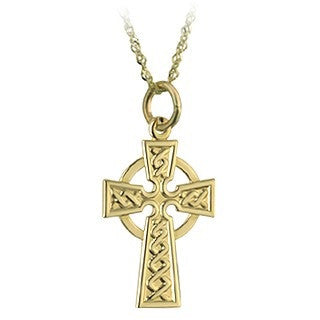 9 Karat Gold Celtic Cross with Chain