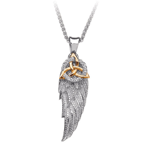 Trinity Angel Wing Pendant