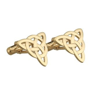Gold Plated Celtic Knot Cuff Links