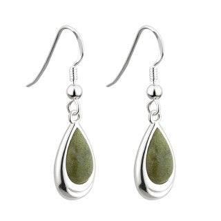 Connemara Marble Drop Earrings Emerald Isle Jewelry.