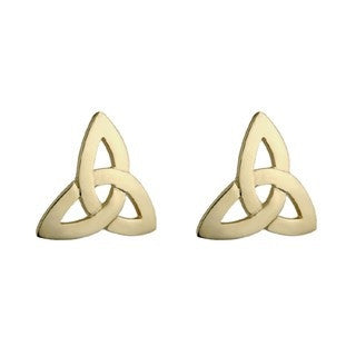 Gold Plated Trinity Celtic Knot work Earrings Emerald Isle Jewelry.