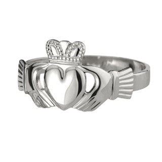 Ladies Extra Heavy Sterling Silver Claddagh Ring Emerald Isle Jewelry.