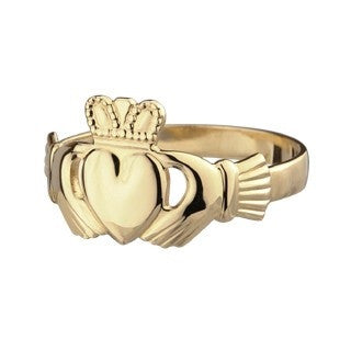 Ladies Gold Claddagh Ring | Irish Rings | Emerald Isle Jewelry