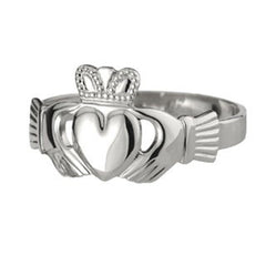 Ladies Silver Claddagh Ring Emerald Isle Jewelry.