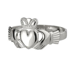 Mens Silver Claddagh Ring Emerald Isle Jewelry.