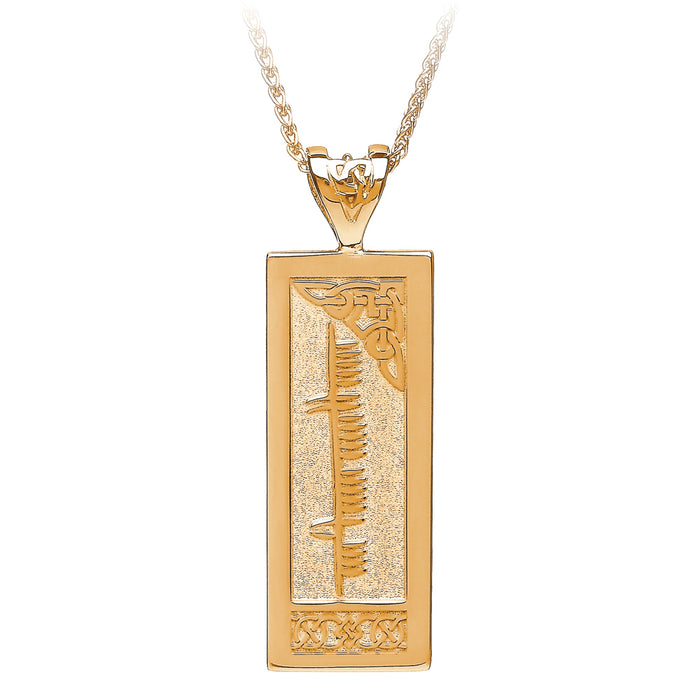 Personalized Ogham Pendant Emerald Isle Jewelry.
