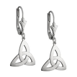 Sterling Silver Trinity Drop Earrings Emerald Isle Jewelry.