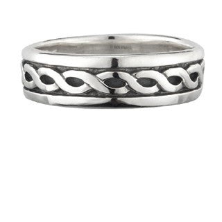 Sterling Silver Celtic Band Narrow Ring