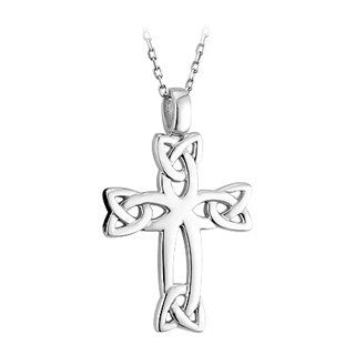 Sterling Silver Celtic Cross with Chain Emerald Isle Jewelry.