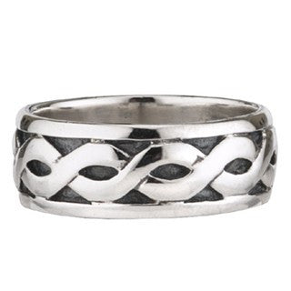 Sterling Silver Celtic Wide Band Ring