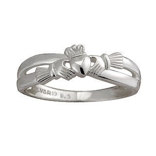 Sterling Silver Claddagh Kiss Ring Emerald Isle Jewelry.