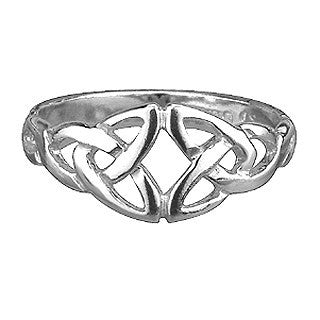 Sterling Silver Celtic Front Ring Emerald Isle Jewelry.