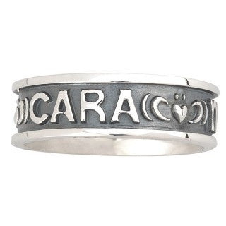 "Sterling Silver ""Mo Anam Cara"" Mens Ring Emerald Isle Jewelry."