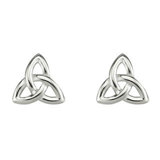 Sterling Silver Small Trinity Stud Earrings