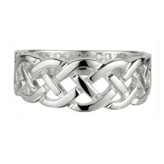 Sterling Silver Celtic Woven Head Ring