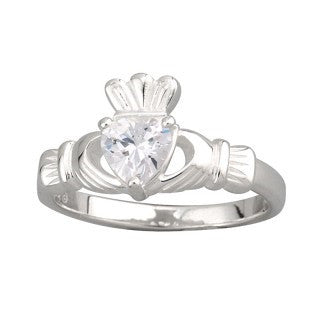 Sterling Silver Cubic Zirconia Heart Ring