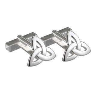 Sterling Silver Trinity Knot Small Cufflinks