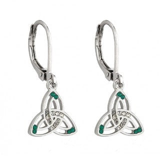 Trinity Knot Celtic Drop Earrings