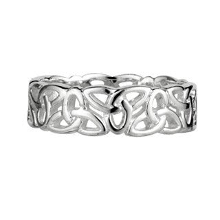 Sterling Silver Trinity Band Ring Emerald Isle Jewelry.