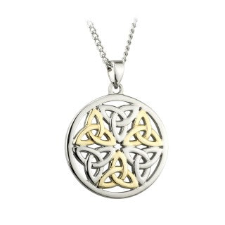 Two tone Trinity Knot and Celtic Pendant