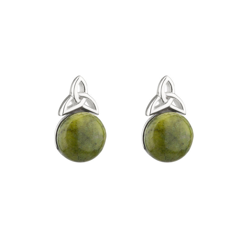 Trinity Marble Silver Earrings Emerald Isle Jewelry.
