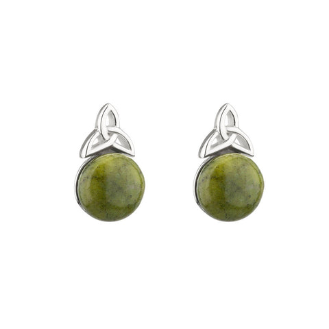 Trinity Marble Silver Earrings